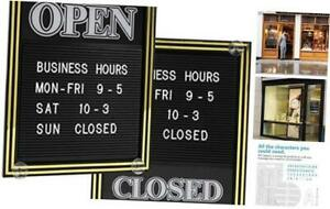 Open And Closed Sign With Letter Board For Customizable Message Or Store