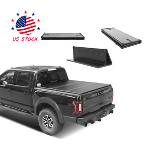 New For 2019 2020 Chevy Silverado 1500 5 8ft Bed 3 Fold Solid Hard Tonneau Cover