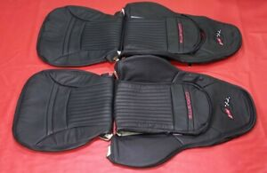 C5 Corvette Synthetic Leather Sports Seat Cover 1997 2004 Black