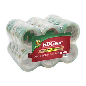 Bulk Duck Hd Clear 1 88 In X 54 6 Yd Clear Acrylic Packing Tape 24 Pack