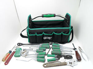 Commercial Electric Hand Tool Carrier W assorted Tools obk Dnt Br3
