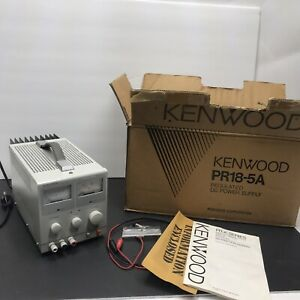 Kenwood Pr18 5a Dc Power Supply 18v 5a Used With Manual Vintage