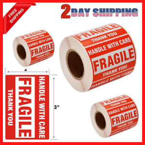1 Roll 500 Labels 2x3 Fragile Stickers Handle With Care Warning Packing Labels