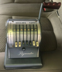 The Paymaster System Check Writer Series 600