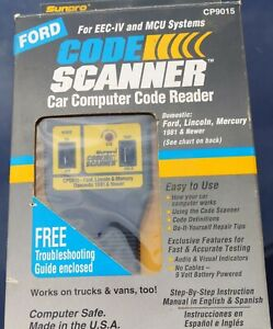Sunpro Actron Iii Code Scanner Cp9015 Car Code Reader Ford Lincoln Mercury 81 95