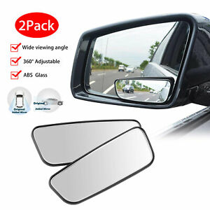 2pcs Adjustable Blind Spot Wide Angle Rear View Side Mirror Universal Car Truck