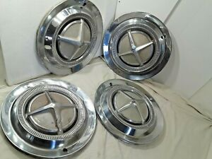 1962 1963 Dodge Hub Caps 14 Set Of 4 Stainless H265