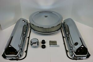 Bb Ford 429 460 Chrome Engine Dress Up Kit Valve Covers Air Cleaner Gaskets Bbf