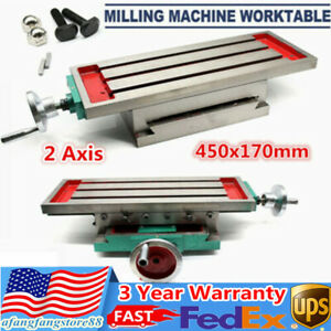 450x170 Mm Cross Slide Table Milling Table Set X y axis Cross Support Adjustable