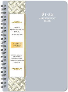 2021 2022 Daily Planner Appointment Book Hourly Calendar Gray Grey Book Organize