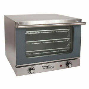 Global Solutions Gs1200 Single Half Size Electric Convection Oven 1 3 Kw 120v