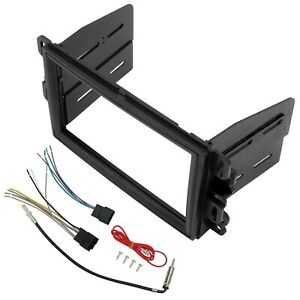Double Din Dash Kit Stereo Radio Wire Harness For 06 Buick Chevy 07 Gmc Saturn