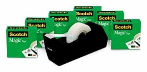Scotch Magic Tape 6 Rolls With Dispenser Numerous Applications 3 4 X 1000 Inch