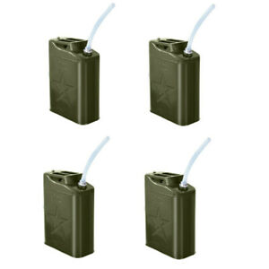 J erry Can 5 Gallon 20l Gas Gasoline Fuel Army Green Backup Metal Steel Tank X4