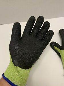 Men s Knit And Latex Work Gloves Size Medium Lot Of 3 new
