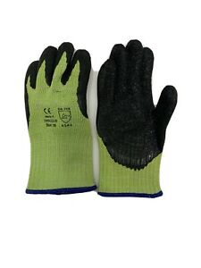 Lot Of 3 Work Gloves Knit And Latex Palm Size Medium New