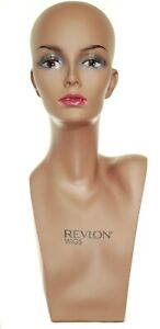 Female Mannequin Head Realistic Hat Jewelry Hair Wig Shop Display Form Tall
