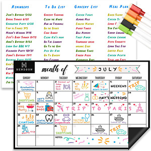 Magnetic Dry Erase Whiteboard Sheet And Monthly Calendar White Board