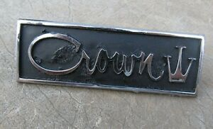 1962 1963 Chrysler Imperial Crown Panel Emblem Driver Quality W Pins 2189687
