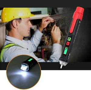 Ac Non Contact Lcd Electric Pen Voltage Digital Tester Detector With Flash Aa