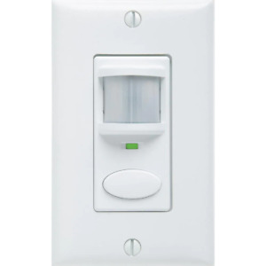 Decorator Vacancy Motion Sensing Self Contained Relay Wall Switch White