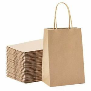 Brown Paper Bags Gift Party Bags With Handles 25pc 5 x3 75 x8 Shopping Bags