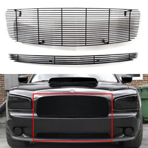 Aluminum Solid Billet Grille Grill Insert Combo For 2005 2010 Dodge Charger Fits 2010 Dodge Charger