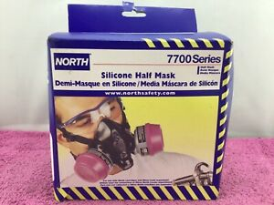 North 7700 Series Silicone Half Mask Face Respirator Size large 7700 30l new
