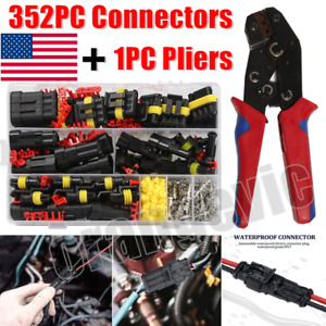 26 Sets 1 4pin Automotive Waterproof Car Auto Electrical Wire Connector Plug Kit
