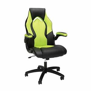 Ofm Ess Collection High back Racing Style Bonded Leather Gaming Chair In Gree