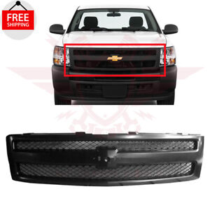 For 2007 2013 Chevrolet Silverado 1500 Front Grill Grille Textured Black Plastic
