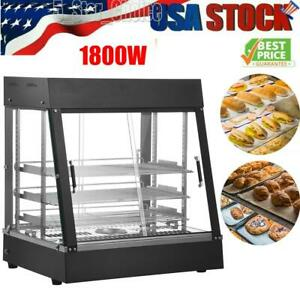 Commercial 26 Food Warmer Court Heat Food Pizza Display Warmer Cabinet Glass