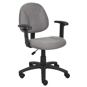 25 In Width Big And Tall Gray Fabric Task Chair With Swivel Seat