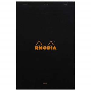 Rhodia Staplebound Notepads Blank 80 Sheets 8 1 4 X 12 1 2 In Black Cover