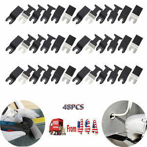 48pc Saw Blade Oscillating Multiple Tool For Wood Pvc Nail Metal Plastic Cutting