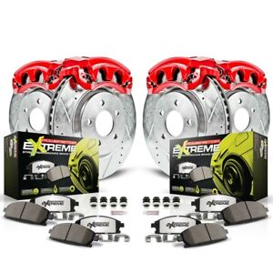 Kc6164 26 Powerstop 4 wheel Set Brake Disc And Caliper Kits Front Rear For Brz
