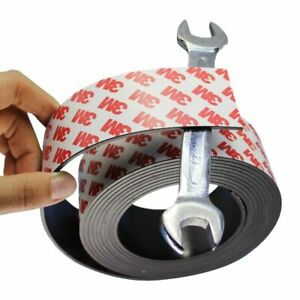 Magnetic Tape 1m 40x2mm Self Adhesive Flexible Strip Rubber Magnet Tool Storage