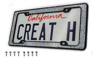 Creathome 3d Shining And Neon License Plate Frame From Pure Zinc Alloy Metal Per