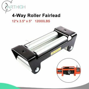 Heavy Duty 10 4way Roller Fairlead Cable Guide For Winch Cable Universal