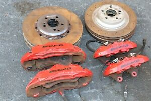 Mercedes Cls63 W219 Front Rear Amg Brembo 6 4 Piston Brake Calipers Rotors