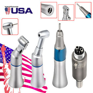 Dental Slow Low Speed Handpiece Latch push Contra Angle E type Air Motor 4 Holes