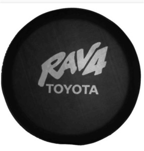 16inch Spare Wheel Tire Covers For Toyota Rav4 Silve Logo Black Spare Tyre Cover