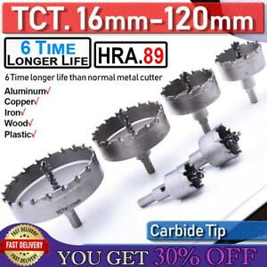 16 120mm Tct Carbide Hole Saw Metal Cutter For Stainless Steel Hss Wood Cutting