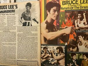Bruce Lee Two Page Vintage Clipping $1.99
