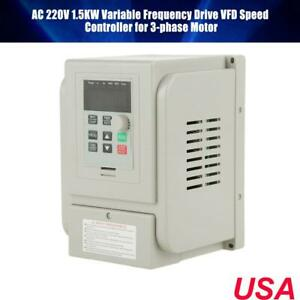 1 5kw Ac 220v Single To 3 Phase Variable Frequency Drive Vfd Speed Controller Us