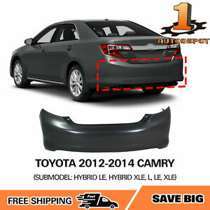 Primed Rear Bumper Cover For 2012 2013 2014 Toyota Camry To1100296 5215906961