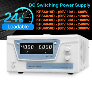High Precision Adjustable Led Dual Display Switching Dc Power Supply 60v 10a 50a