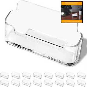Dmfly 16 Pack Business Card Holder For Desk Acrylic Clear Plastic Stand Desktop