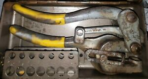 Roper Whitney No 5 Jr Hand Punch Hole Punch Dies One Die Has A Chip Usa