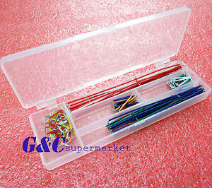 5pcs 140pcs Solderless Breadboard Jumper Cable Wire Kit Box Diy For Arduino M98